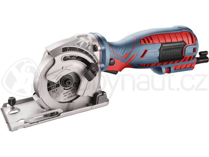 Elektrické nářadí - Okružní pila/řezačka Extol Premium 89mm, 705W