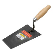 Zednická lžíce ocelová černá 180x130mm