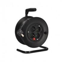Prodlužovací kabel na bubnu černý (3x1mm2) - délka 15m