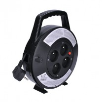 Prodlužovací kabel na bubnu černý (3x1mm2) - délka 10m