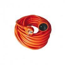 Prodlužovací kabel oranžový (3x1mm2), 1 zásuvka