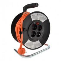 Prodlužovací kabel na bubnu oranžový (3x1mm2) - délka 25m