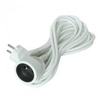 Prodlužovací kabel bílý (3x1mm2), 1 zásuvka