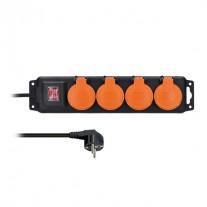 Prodlužovací kabel venkovní (3x1,5mm2), 4 zásuvky, vypínač